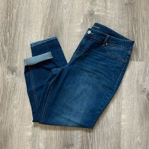 Maurices frayed double hem jeggings